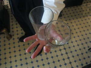 carry three glasses