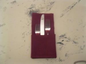 restaurant napkin